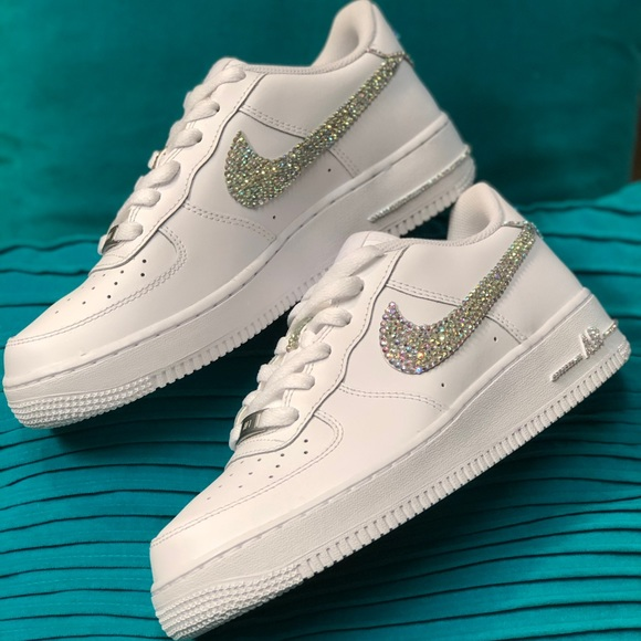 77ed873198f Brand New Custom Bling Nike Air Force One Low